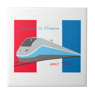 High Speed Rail Travel Small Square Tile