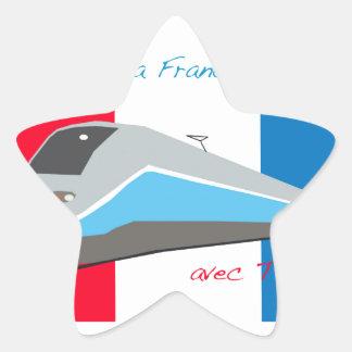 High Speed Rail Travel Star Sticker