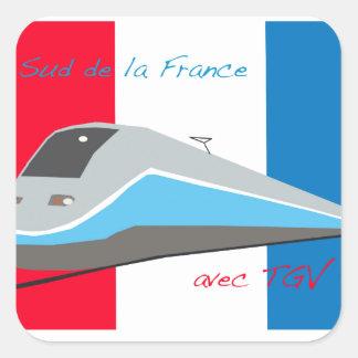 High Speed Rail Travel Square Sticker