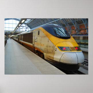 High speed train print