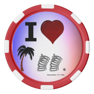 High Stakes Poker Chips. Set Of Poker Chips
