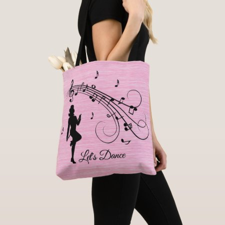 High Step Dancing to the Music Custom Tote Bag
