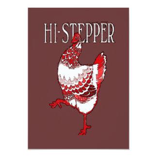 High Stepper Chicken Custom Invite