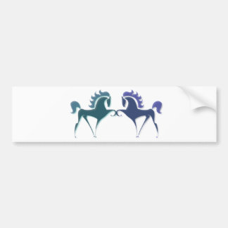 High Stepping Horse Logo Bumper Sticker