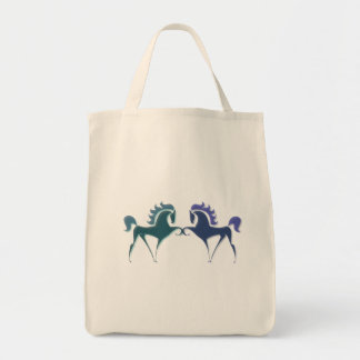 High Stepping Horse Logo Grocery Tote Bag