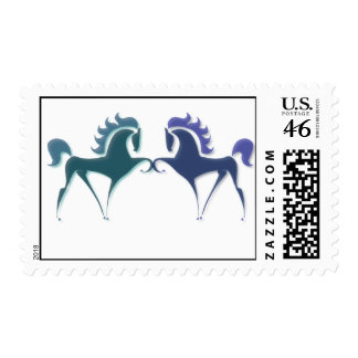 High Stepping Horse Postal Stamp