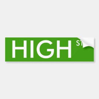 High Street Car Bumper Sticker