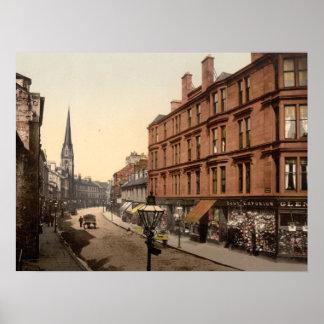 High Street, Dumbarton, Scotland archival print
