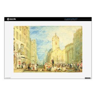 High Street, Edinburgh, c.1818 (w/c, pen, ink, gra Laptop Skins