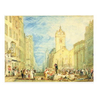 High Street, Edinburgh, c.1818 (w/c, pen, ink, gra Postcard