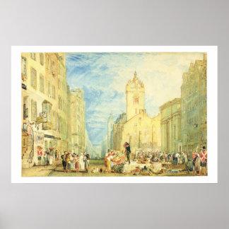 High Street, Edinburgh, c.1818 (w/c, pen, ink, gra Poster