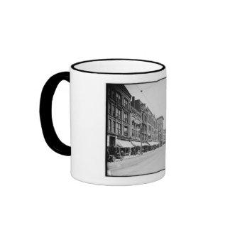 High Street, Holyoke, Massachusetts Vintage Ringer Mug