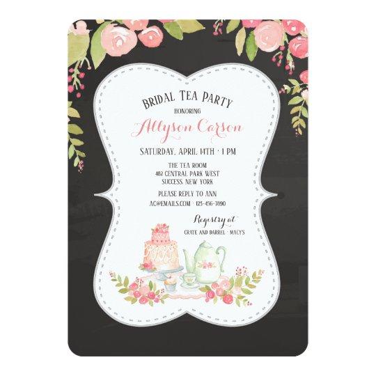 3e683b0857d High Tea Bridal Shower Invitation