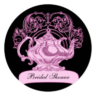 High tea pink black card