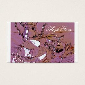 High teas business card