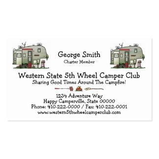 High Tech 5th Wheel Business Card Templates