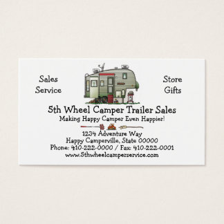 High Tech 5th Wheel Business Card