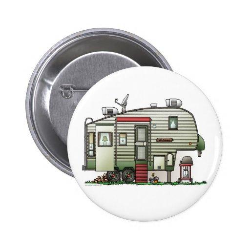 High Tech 5th Wheel Camper Button Pinback Buttons