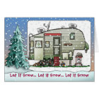 High Tech 5th Wheel Camper Holiday Cards