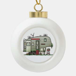 High Tech 5th Wheel Ceramic Ball Christmas Ornament