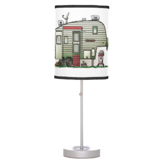 High Tech 5th Wheel Table Lamp