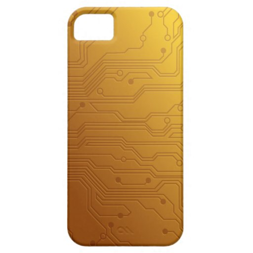 High Tech Circuit Board Gold iphone cases iPhone 5 Cases