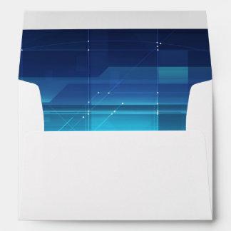 High tech digital background envelope