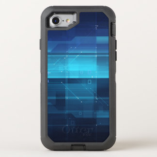 High tech digital background OtterBox defender iPhone 8/7 case