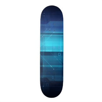 High tech digital background skateboard