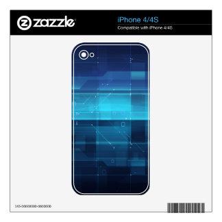 High tech digital background iPhone 4 skin