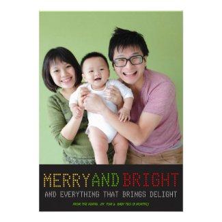 High Tech Holiday Photo Card