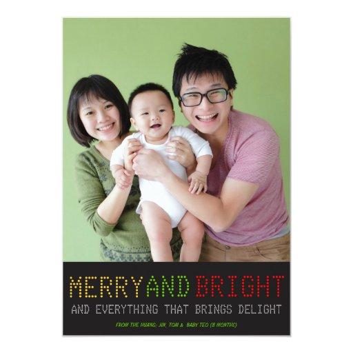 High Tech Holiday Photo Card Custom Invite
