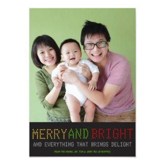High Tech Holiday Photo Card Custom Invite