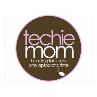 high technology moms postcard