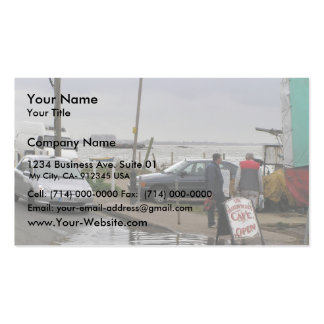 High Tide At Mersea, Essex, Uk Business Card Templates