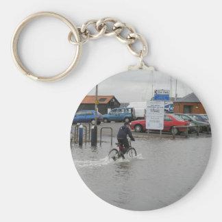 High Tide At Mersea, Essex, Uk Keychain