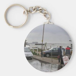 High Tide At Mersea, Essex, Uk Key Chain