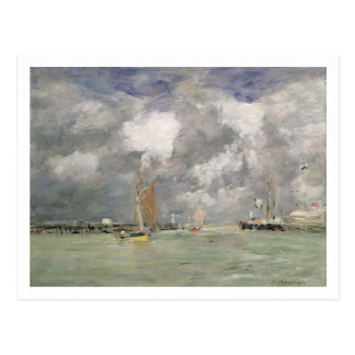 High Tide at Trouville, c.1892-96 (oil on panel) Postcard