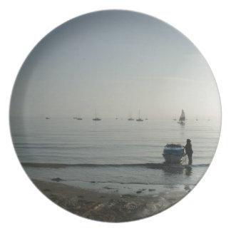 High tide, early dawn dinner plate