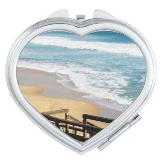 High_Tide, _Ladies_Heart_Compact-Mirror. Espejos Maquillaje