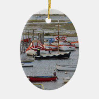 High tide, Morston, Norfolk Ceramic Ornament