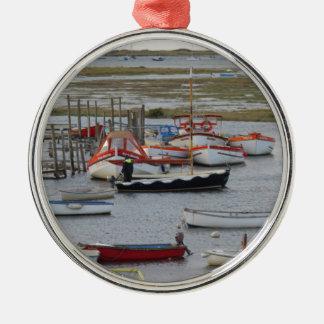 High tide, Morston, Norfolk Metal Ornament