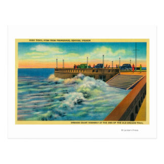 High Tides at PromenadeSeaside, OR Postcard