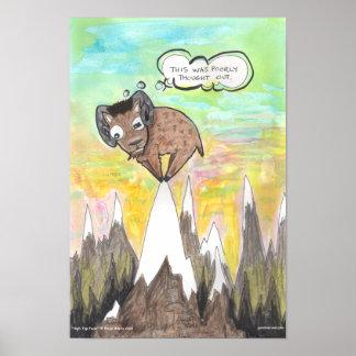 High Top Fade lowbrow Cartoon Goat Humor Art Print