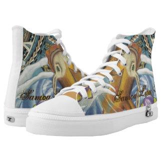 High Top Shoe with Samoan design and Koi fish