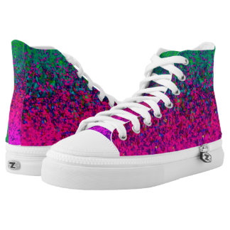 High Top Shoes Glitter Dust Printed Shoes