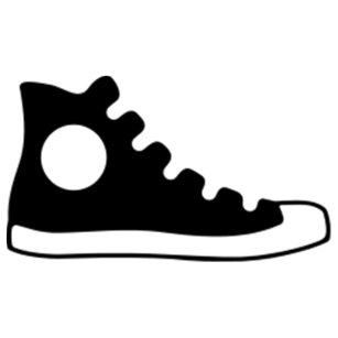 fec7bdeb2d8f High Top Sneaker Classic Round Sticker