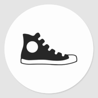 High Top Sneaker Classic Round Sticker