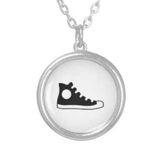 High Top Sneaker Personalized Necklace