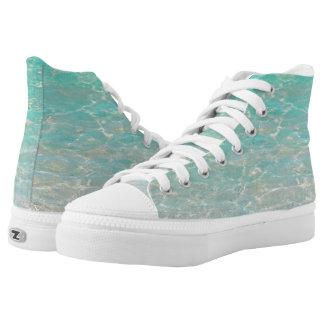High Top ZIPZ® shoes/CARIBBEAN BLUES